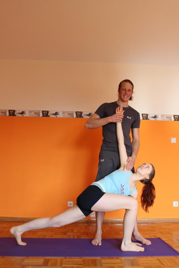 Yoga unter Anleitung